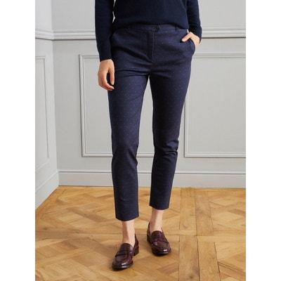 e0571687eb589 Pantalon cigarette femme en coton stretch Pantalon cigarette femme en coton  stretch CYRILLUS