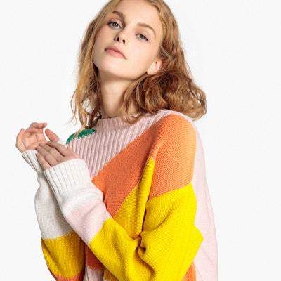 Пуловер разноцветный с вырезом-лодочкой Пуловер разноцветный с вырезом-лодочкой La Redoute Collections