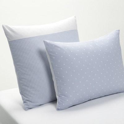 Blue Cassopia Printed Cotton Single Pillowcase Blue Cassopia Printed Cotton Single Pillowcase La Redoute Interieurs