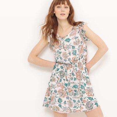 Ruffled Sleeved Floral Print Dress Ruffled Sleeved Floral Print Dress MOLLY BRACKEN