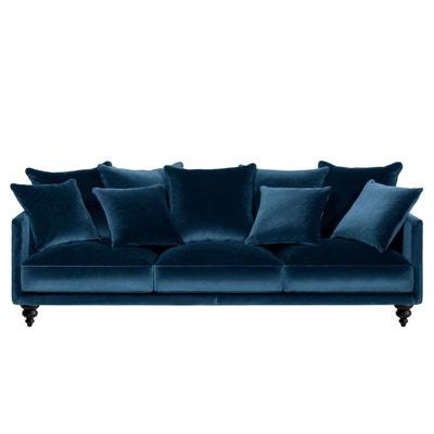 canape velours bleu en solde la redoute. Black Bedroom Furniture Sets. Home Design Ideas
