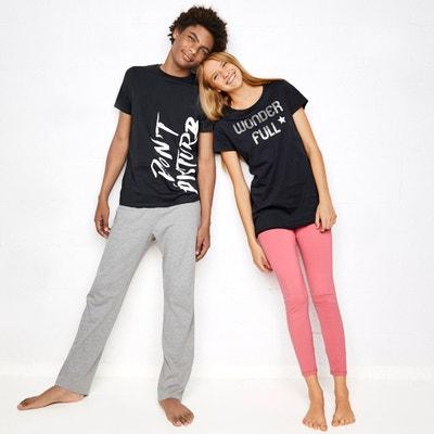 Pyjama manches courtes, imprimé, 10-16 ans Pyjama manches courtes, imprimé, 10-16 ans La Redoute Collections