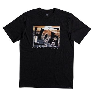 T-shirt con scollo rotondo tinta unita, maniche corte T-shirt con scollo rotondo tinta unita, maniche corte DC SHOES