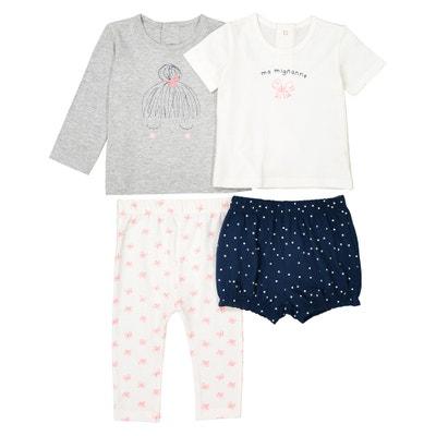 Pijama estampado de algodón 0-3 años (lote de 2) La Redoute Collections