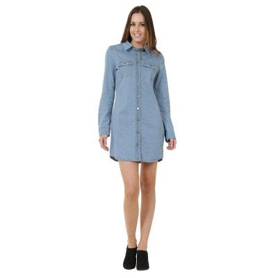 1412f637415e4 Robe longue en jean femme en solde   La Redoute