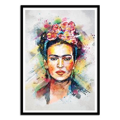 Affiche art 50x70 Frida Kahlo Portrait WALL EDITIONS