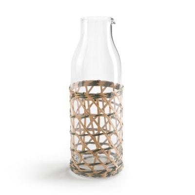 Waterkaraf in glas met vlechtwerk QUALIMNA Waterkaraf in glas met vlechtwerk QUALIMNA La Redoute Interieurs
