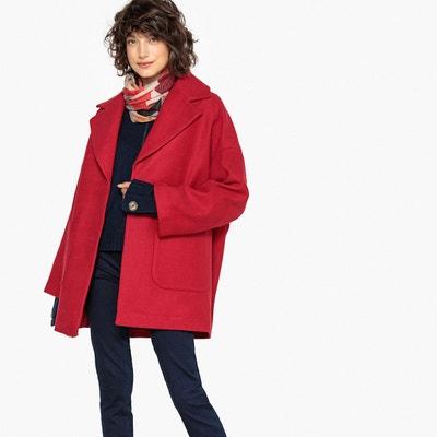 Manteau mi-long ovoïde, fermeture pressionnée La Redoute Collections