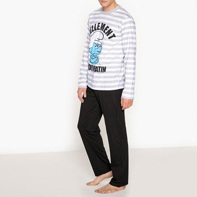 Pyjama coton manches longues, Schtroumpfs Pyjama coton manches longues, Schtroumpfs SCHTROUMPFS