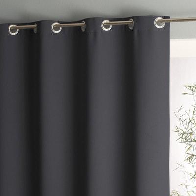 rideaux gris et blanc en solde la redoute. Black Bedroom Furniture Sets. Home Design Ideas