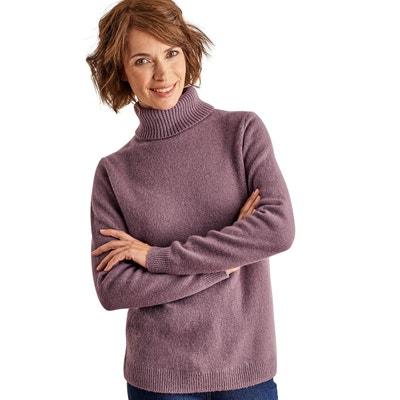 e8c96c399c76b Pull à col roulé laine d agneau Pull à col roulé laine ...