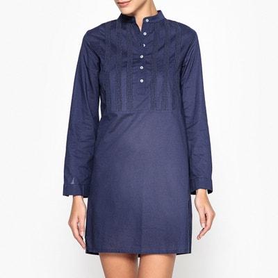 Camisa de dormir com escapulário bordado Camisa de dormir com escapulário bordado La Redoute Collections