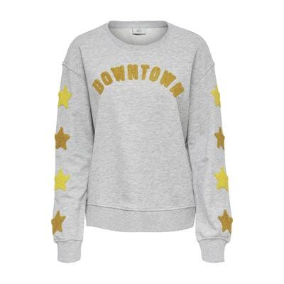 Downtown Slogan Cotton Mix Sweatshirt Downtown Slogan Cotton Mix Sweatshirt ONLY