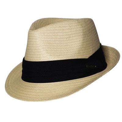 Trilby naturel style panama ruban noir CHAPEAU-TENDANCE