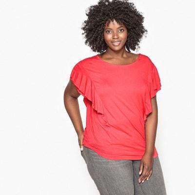 T-Shirt, runder Ausschnitt, Volant-Ärmel T-Shirt, runder Ausschnitt, Volant-Ärmel CASTALUNA