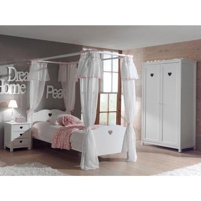 Lit A Baldaquin Blanc La Redoute - Lit baldaquin romantique bois