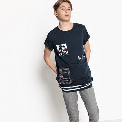 T-shirt rallongé et imprimé 10-16 ans La Redoute Collections