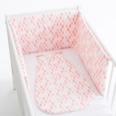 Tour de lit imprimé feuille percale coton La Redoute Collections