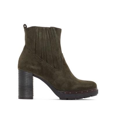 Boots in suèdine leer met hak Certa MJUS