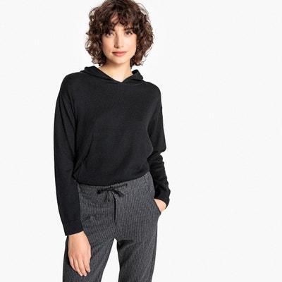 Cotton/Cashmere Fine Knit Hoodie Cotton/Cashmere Fine Knit Hoodie La Redoute Collections