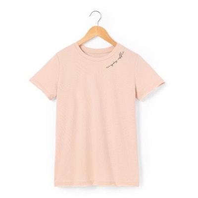 Gładki t-shirt z okrągłym dekoltem, krótki rękaw La Redoute Collections