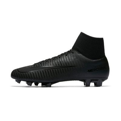 Nike Mercurial Victory VI DF FG M Noir-Jaune - Chaussures Football Homme