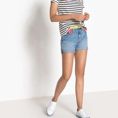 Calções em ganga, cintura standard, puro algodão Calções em ganga, cintura standard, puro algodão La Redoute Collections