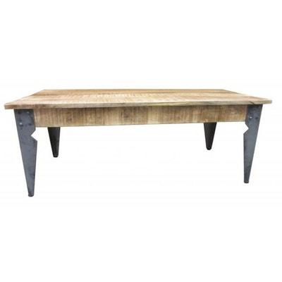 5f281289179e84 Table basse en bois et métal H46 EVORA Table basse en bois et métal H46  EVORA. DECLIKDECO