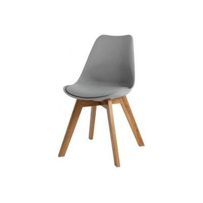 Chaise Design Style Scandinave Grise ESBEN DECLIKDECO