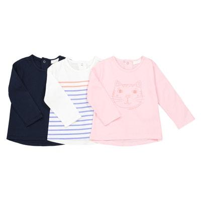 Set van 3 T-shirts 1 mnd - 3 jr, Oeko Tex La Redoute Collections