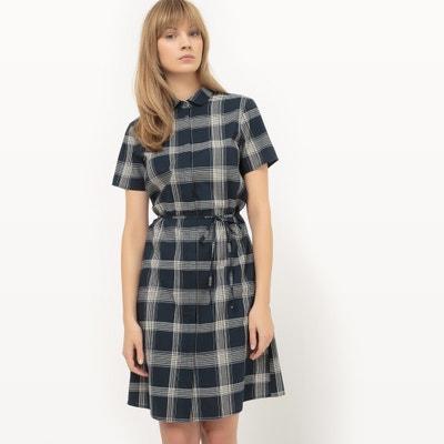 Sukienka koszulowa w kratę La Redoute Collections