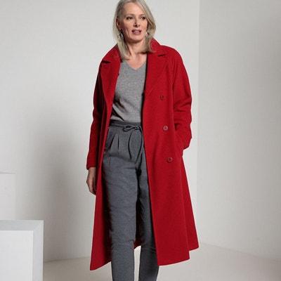 Manteau court bordeaux femme