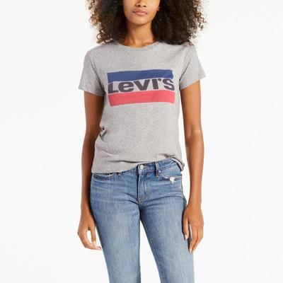 T-shirt com gola redonda e mangas curtas T-shirt com gola redonda e mangas curtas LEVI'S