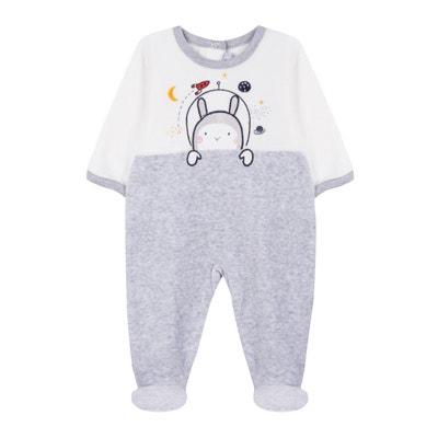 Pyjama in fluweel, 3 mnd - 2 jaar Pyjama in fluweel, 3 mnd - 2 jaar ABSORBA
