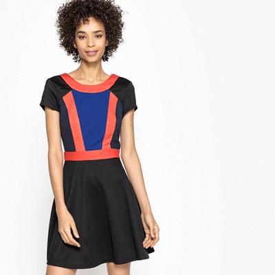 Colour Block Skater Dress Colour Block Skater Dress La Redoute Collections