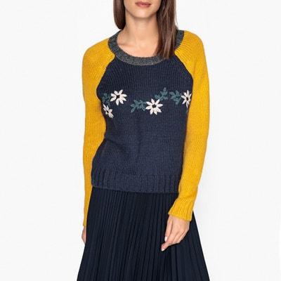 Pull col rond en maille tricotée MARCELINOU Pull col rond en maille tricotée MARCELINOU LEON and HARPER