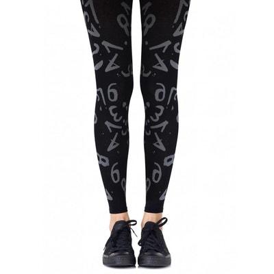 Legging Chiffres Noir 120D BELLE EN COLLANT