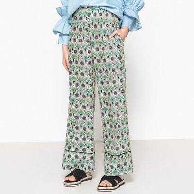 Pantalon large en soie taille élastique AVOCADO Pantalon large en soie taille élastique AVOCADO MOMONI