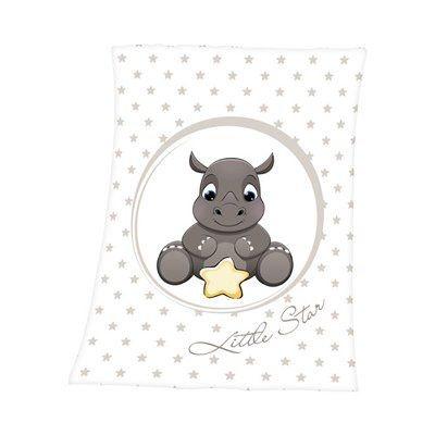 HERDING La couverture pour bébé rhinocéros 75 x 100 cm couverture douce... HERDING La couverture pour bébé rhinocéros 75 x 100 cm couverture douce... HERDING