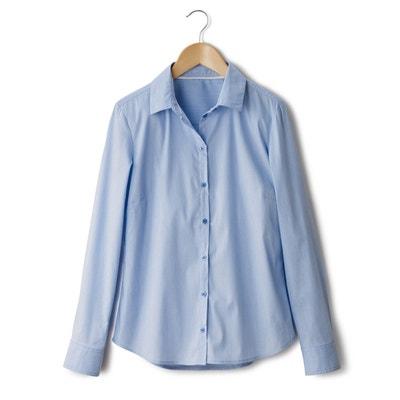 Camisa lisa de popelina Camisa lisa de popelina R essentiel