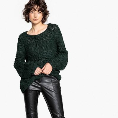 Пуловер с круглым вырезом из плотного трикотажа Пуловер с круглым вырезом из плотного трикотажа LPB WOMAN