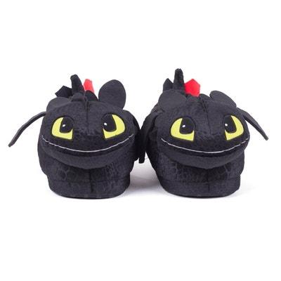 Chaussons animaux peluche Krokmou, personnage du film Dragons, licence officielle DreamWorks Chaussons animaux peluche Krokmou, personnage du film Dragons, licence officielle DreamWorks SLEEPERZ