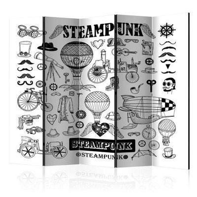 Paravent 5 volets Steampunk II Paravent 5 volets Steampunk II RECOLLECTION