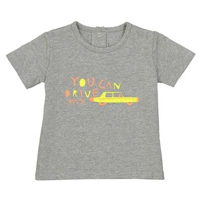 T-shirt de mangas curtas estampada, 1 mês - 3 anos La Redoute Collections