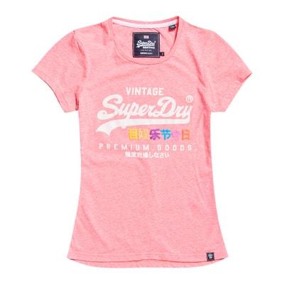 T-shirt scollo rotondo maniche corte logo T-shirt scollo rotondo maniche corte logo SUPERDRY