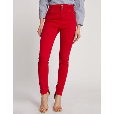 Pantalon bordeaux femme en solde   La Redoute 87ffd7611076