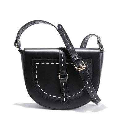 Half Moon Leather Handbag Half Moon Leather Handbag La Redoute Collections