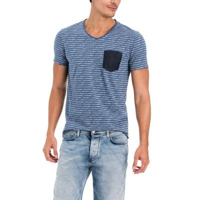 T-shirt à rayures avec poche SALSA