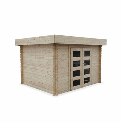 Abri de jardin VIZZAVONA en bois FSC de 8,59m², structure en madriers, sapin séché Abri de jardin VIZZAVONA en bois FSC de 8,59m², structure en madriers, sapin séché ALICE S GARDEN
