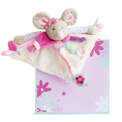 Happy Rabbit Comfort Blanket with Dummy Holder DOUDOU ET COMPAGNIE